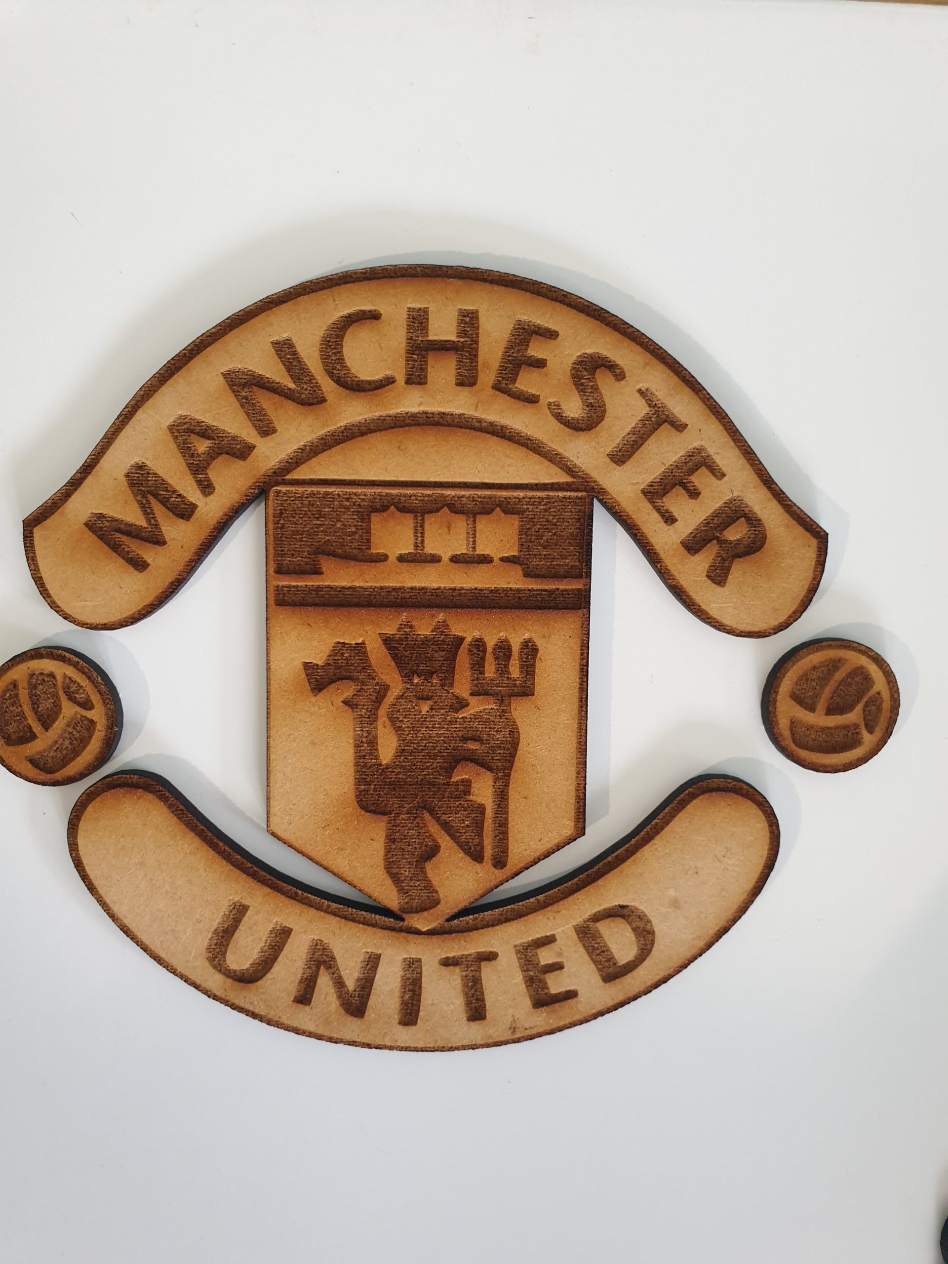 Manchester United Crest Wooden It Be Nice