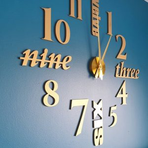 Wall clock gold 2