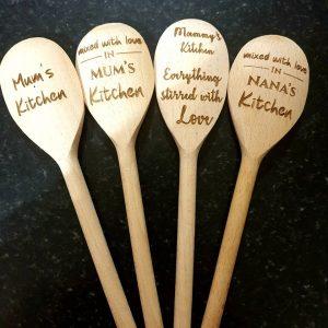 Wooden spoon personalised